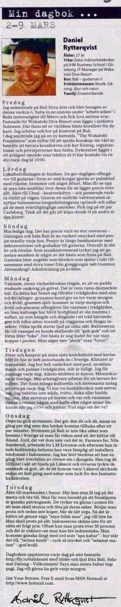 Artikel i GP 2001-03-11