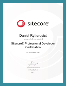Sitecore Professional Developer
