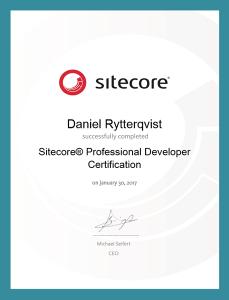 Sitecore Professional Developer