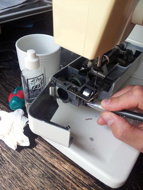 Smörjning av symaskin