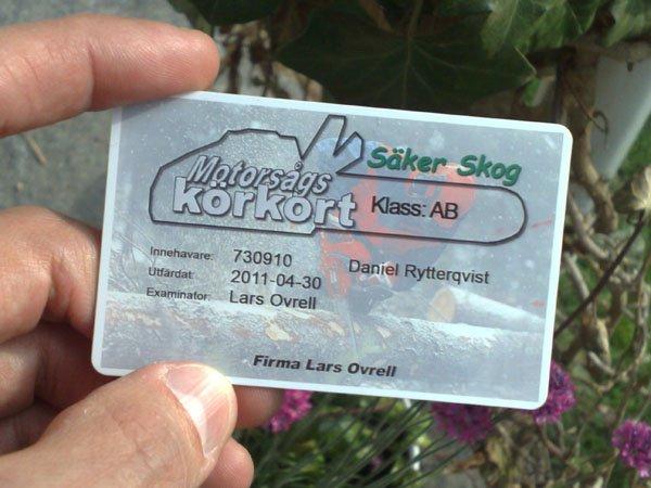 Motorsågskörkort