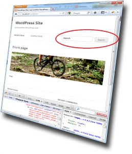 WordPress search form in primary navigation