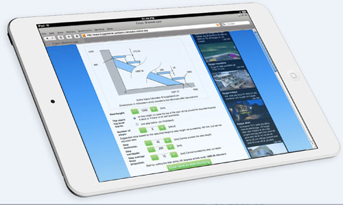 Stairs Calculator i Safari på en iPad