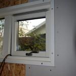 Gips kring fönster