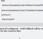 Sitecore Eable Fallback Blob