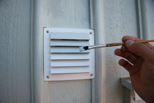 Måla ventilationsgallret