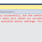 Package Manager Console Policy Message