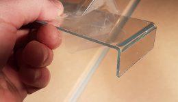 Böjd lexiglas
