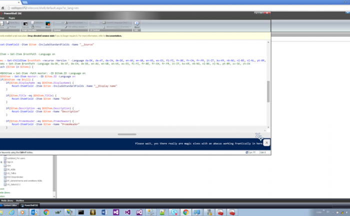 Sitecore PowerShell