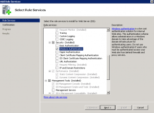 Enable Windows Authentication in Windows 2008 R2