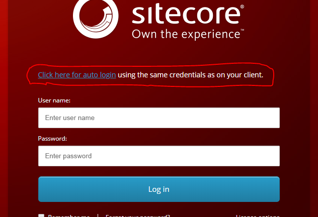 Log in to Sitecore using Single Sign On