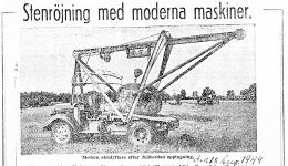 Stenröjning med moderna maskiner