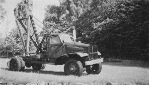 Röslövsvagnen på militärlastbil