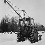Traktormonterad skogskran