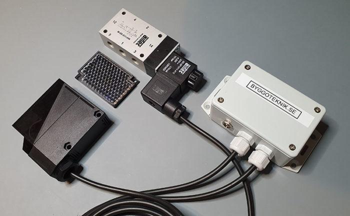 Ventil med optisk sensor