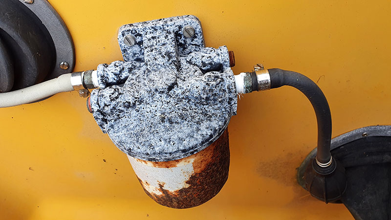 Gammalt externt bränslefilter