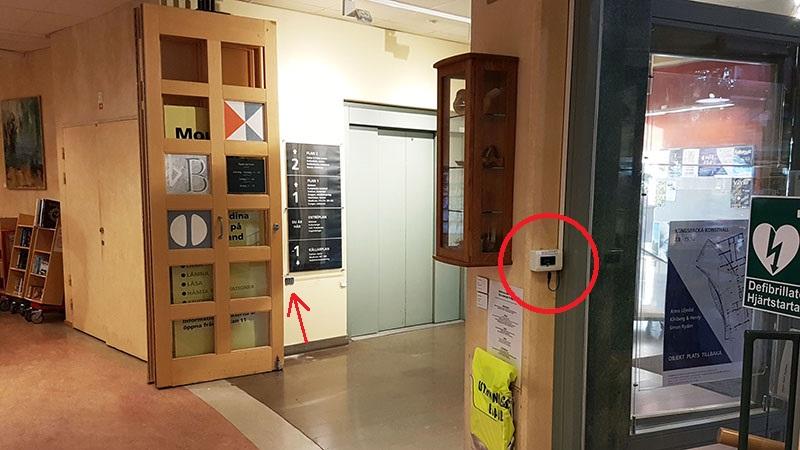 Besöksräknare till biblioteket i Kulturhuset Fyren