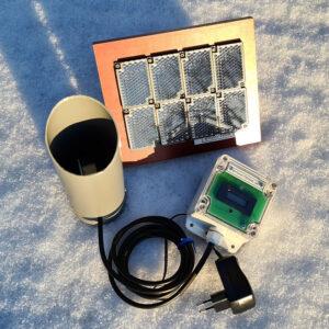 Besöksräknare för utomhusbruk med batterieliminator