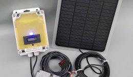 Besöksräknare utomhus med solcellsladdning